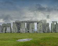 Photo of summer rain clouds gathering above Stonehenge