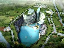 Artist's image of the Songjigan Hotel