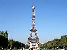 Photo of the iconic Eiffel Tower in Paris