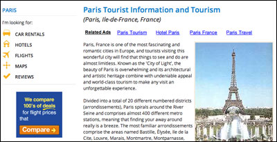 Paris banner advert