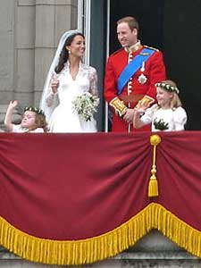 Photo of the recent royal wedding, showing the newly-weds, Prince William and Catherine Middleton