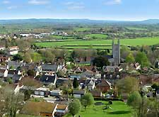 Image of the picturesque village of Mere, Wiltshire England