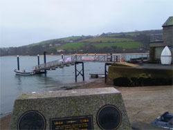 Image of Salcombe beach and estuary in the winter