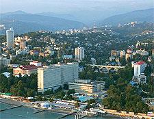 Photo showing the Black Sea coastline of Socci, Krasnodar Krai, Russia, image by Andrey Babushkin