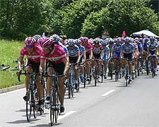 Photo of past Tour de France cyclists