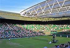 Photo of the tennis championships at Wimbledon, London