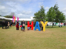 Picture of crowds at the Hay Festival