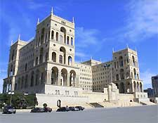 Photo showing the Government Building in Baku, capital of Azerbaijan