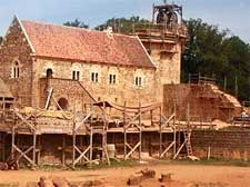 Image of the historic castle chateau in Guedelon, Burgundy, France