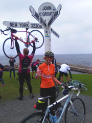 Photo showing the famous John O'Groats signpost