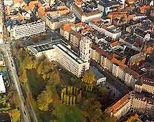 Aerial view of the City Hall