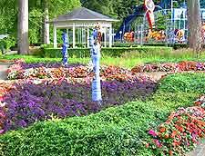 Gardens at the Tivoli Friheden Amusement Park