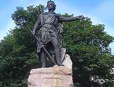 View of the Statue of William Wallace