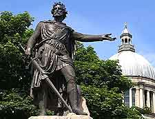 Image showing the famous William Wallace statue in Aberdeen, Scotland, UK
