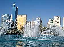 Image of fountains on the Corniche