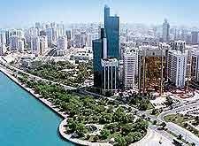 Aerial image of the Corniche