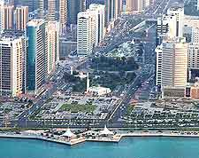 Birds eye view of the Corniche