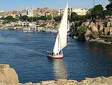 Picture of felucca cruising along the Nile