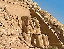Close-up view of the Temple of Ramses II