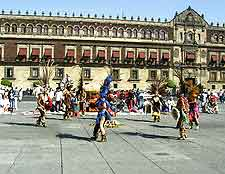 Photo taken at the El Zocalo square