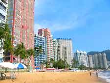 Photo of high-rise hotels on the beachfront