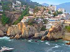 View of the famous Quebrada Cliffs in Acapulco