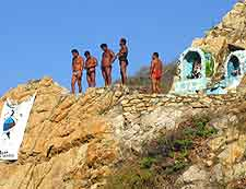 Picture of the famous Quebrada cliff divers