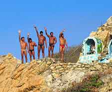 Further photo showing the Quebrada cliff divers