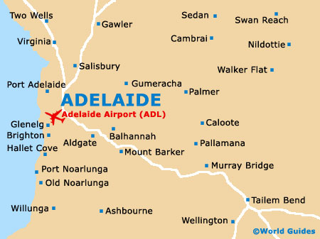 Adelaide Map Of Australia.Adelaide Maps And Orientation Adelaide South Australia Sa Australia