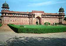 A view of Jahangiri Palace which was built by Emperor Akbar