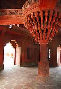View of architecture found at Fatehpur Sikri