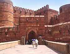 Another view of the striking Red Fort