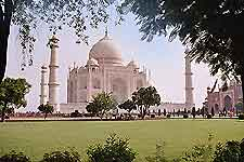 Views over the Taj Mahal can be seen from the Golf Club