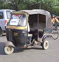 Auto Rickshaws found in the city