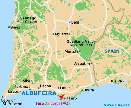 Albufeira Maps And Orientation Albufeira Algarve Portugal - Portugal on map