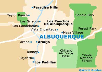 Map of Albuquerque Sunport Airport ABQ Orientation and Maps for