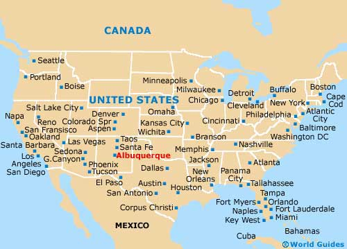 Maps Update Albuquerque Tourist Attractions Map - Us map with tourist attractions