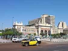 Image of the train station in Alexandria