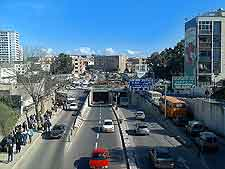 Photo showing traffic in Chevalley area of Algiers