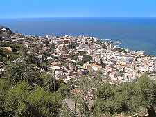 View of the Algiers' coastline
