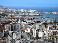 Bird's eye view of the port at Algiers