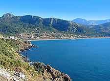 Coastal bayfront view
