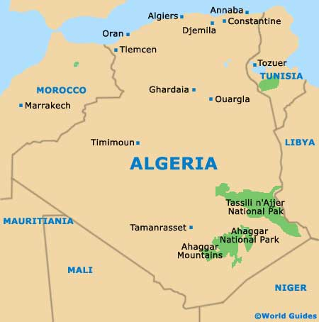 Small Algeria Map