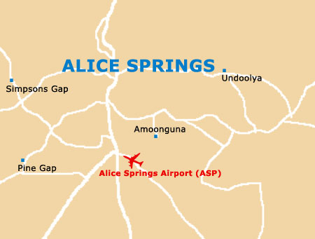 Small Alice Springs Map