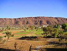 Distant view of the surrounding scenery