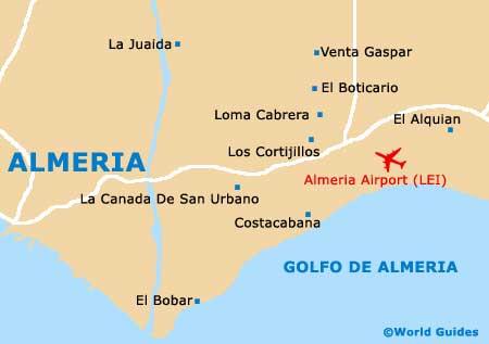 Map Of Spain Almeria.Maps Of Almeria University Of Almeria Universidad De Almeria Map