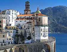 Coastal picture showing neighbouring Atrani
