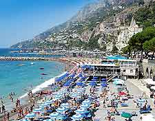 View of the stunning Amalfi beachfront