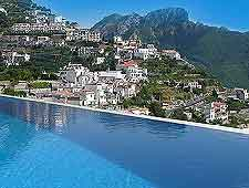 Photograph of hotel pool at Ravello