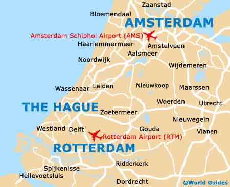 Amsterdam Area map